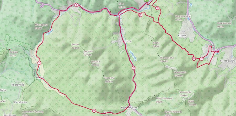 Pobierz trasę Zimowego Maratonu Bieszczadzkiego w formacie gpx i tcx